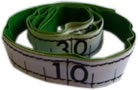 12 Inch Cloth Tapes w / Lead Letters at 1 inch intervals